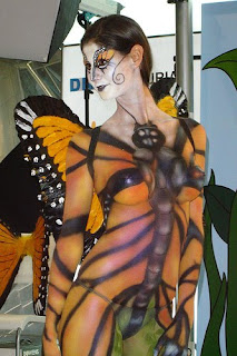 Body paint dragonfly