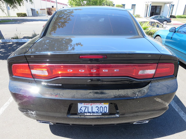 2013 Dodge Charger with damaged bumper before repair at Almost Everything Auto Body