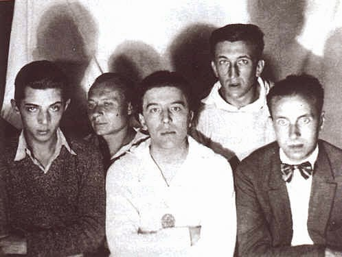 Georges Malkine Andre Masson , Andre Breton, Max Morise, Georges Neveux.