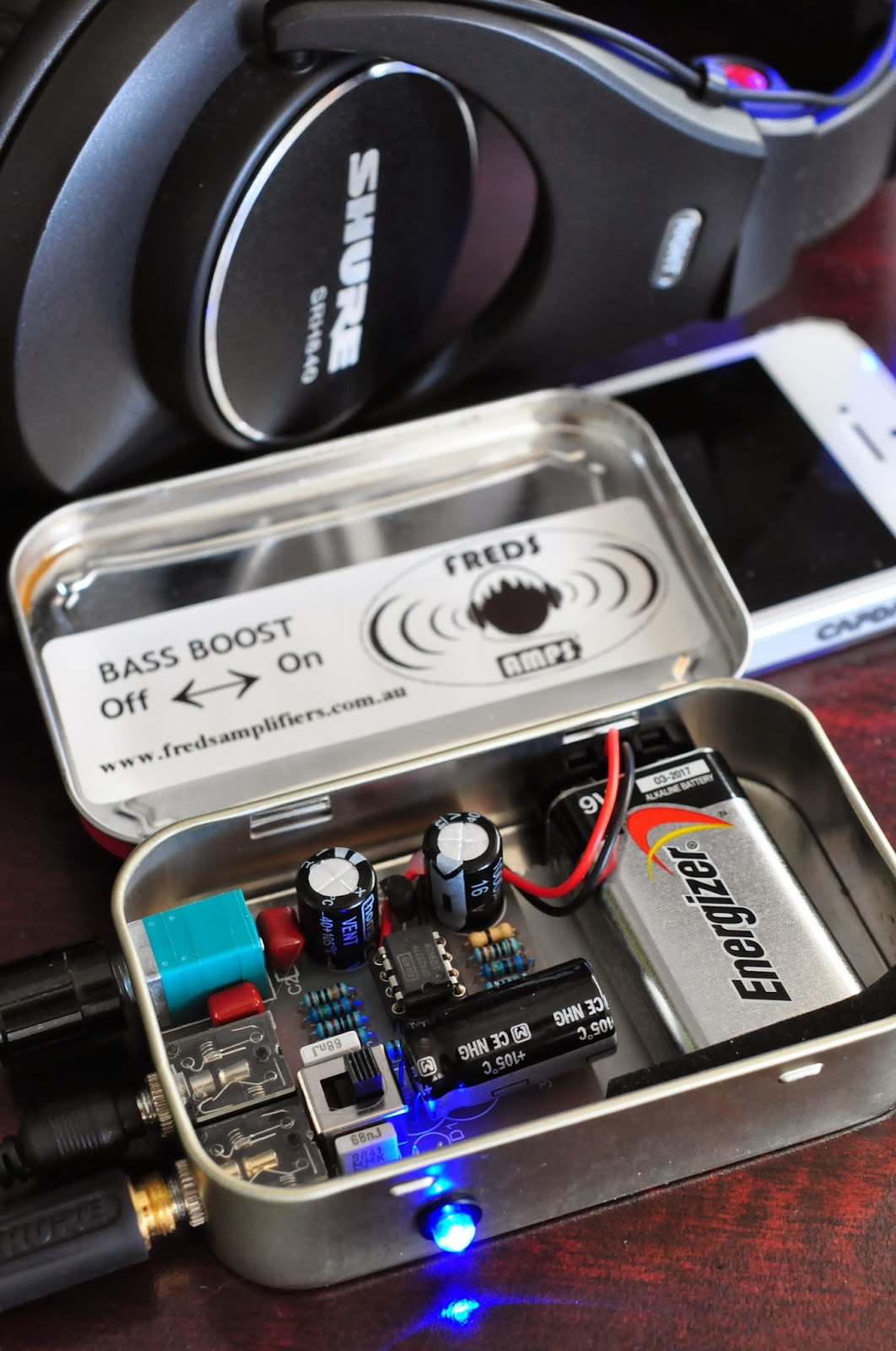 My Cmoy Arrived Headphone Amplifier So Some Are Cost A Little Bit Higher Because Of The Unique Tin I Got One From Perth It Have Bass Boost Function Now Sound Is Reall