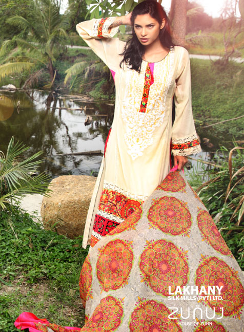 Lawn Collection 2014: Replica LSM Zunuj Spring Summer Collection 2013