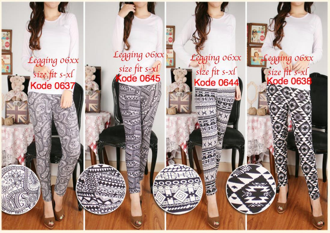 Celana Legging Motif Bunga Batik