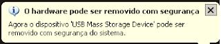 Como remover a USB com segurança