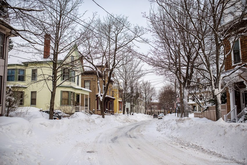 Emery Street in Portland, Maine USA January 2015 West End Snow photo by Corey Templeton
