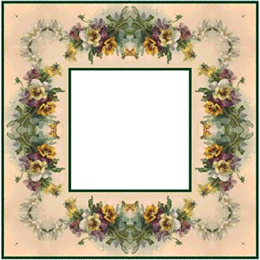 simple but pretty square frames with square holes