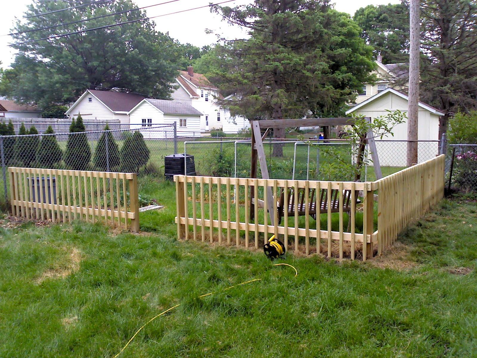 uncommoncoder diy garden fence