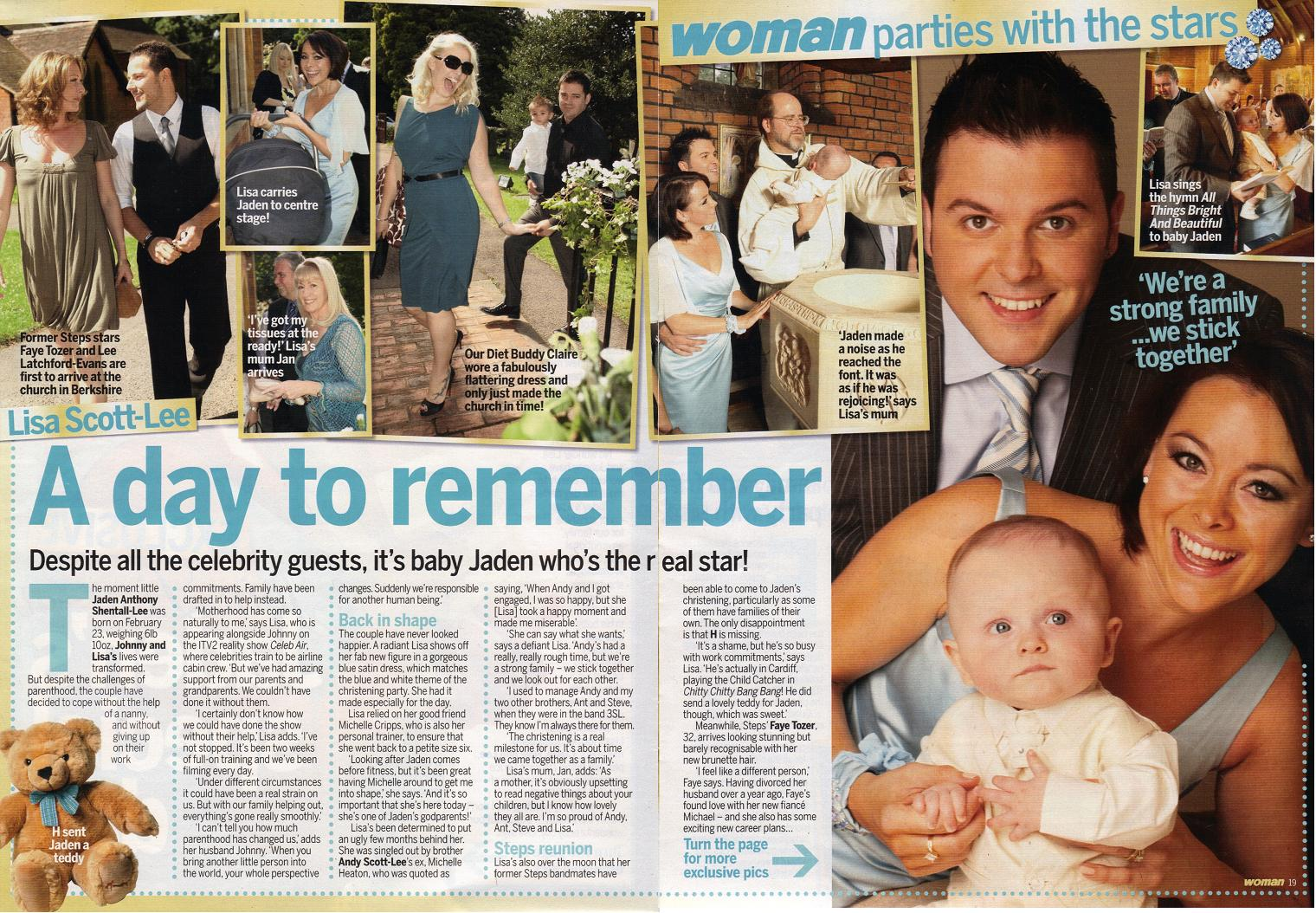 Lisa Scott-Lee: Jaden's Christening 2005.