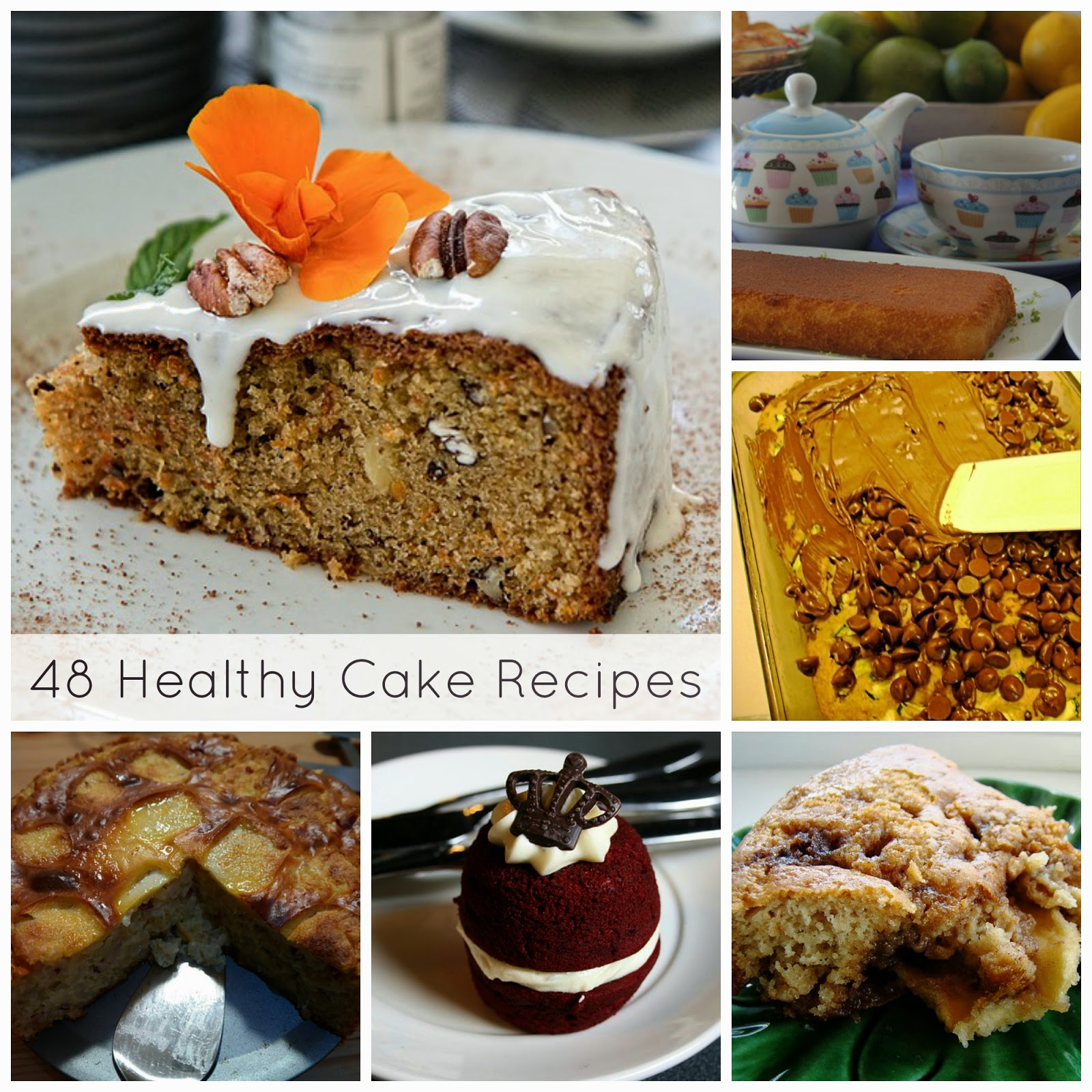 Healthy Cake Recipes | Becky Cooks Lightly #cake #healthy