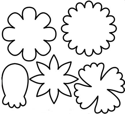 early play templates: Flower templates free Flower Pattern Template