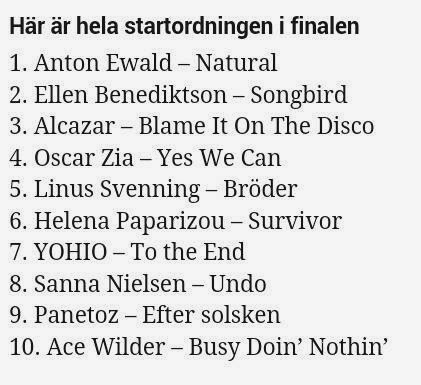 Melodifestivalen 2014. En dröm gick då i uppfyllelse....