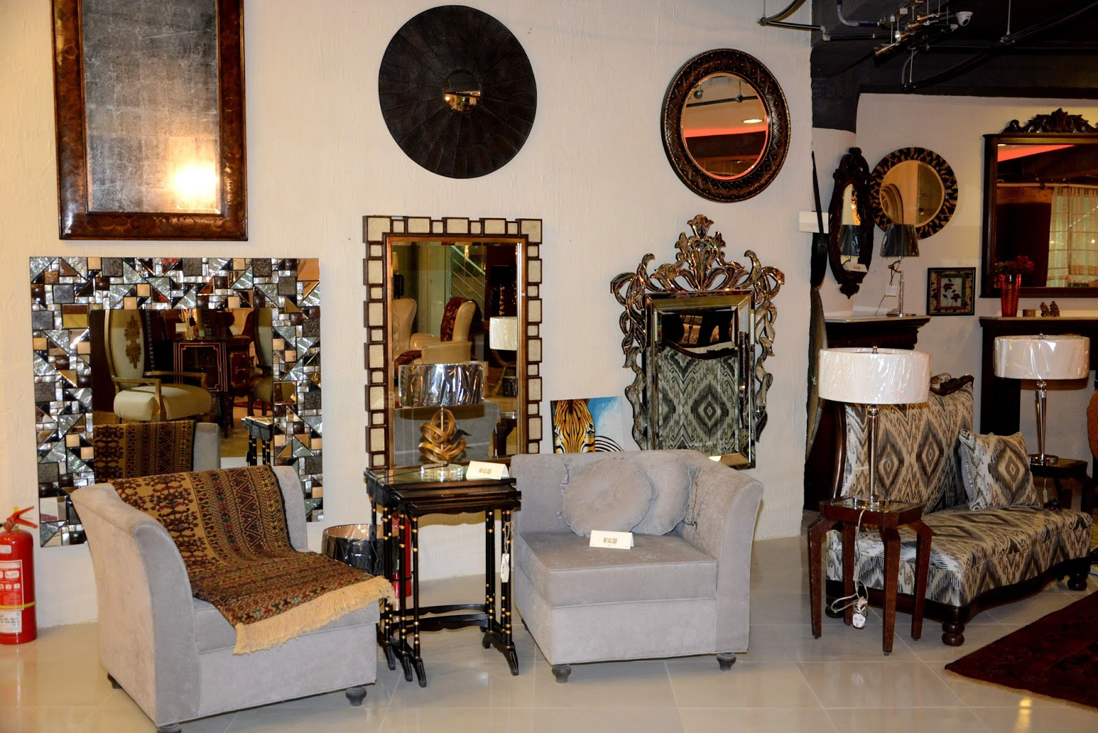Launch of designers e 39 talage furniture museum in islamabad sparkling palette blog for Furniture stores with interior designers