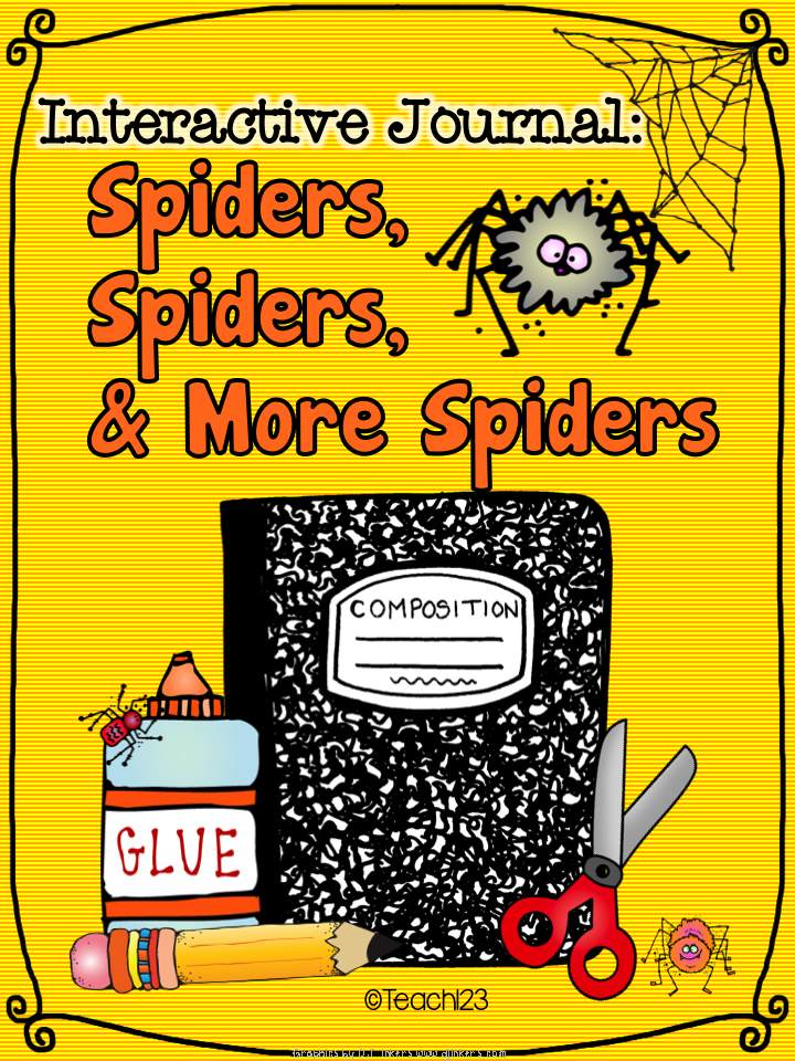 Spiders: Interactive Journal & Task Cards