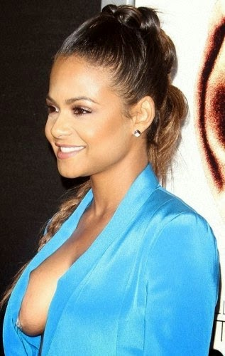 The Entatainments: Christina Milian shows side-boobs at ...