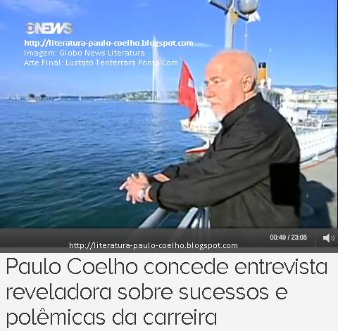 Paulo Coelho em passeio pelo Pier da Marina, em Genebra, Suíça, por ocasião das filmagens da entrevista concedida ao Programa Globo News Literatura