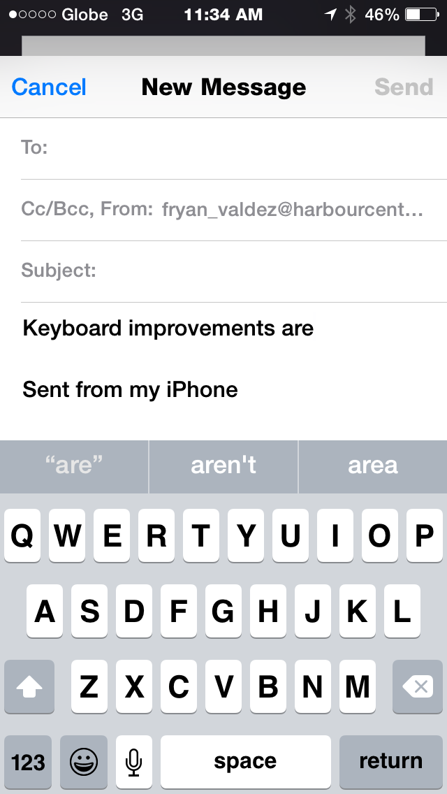 Keyboard: My take on Apple iOS 8