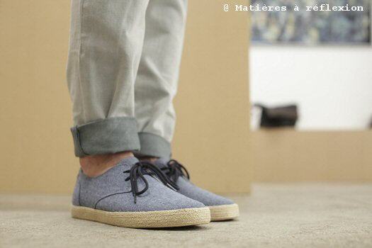 Espadrille Pointer Chester Chambray