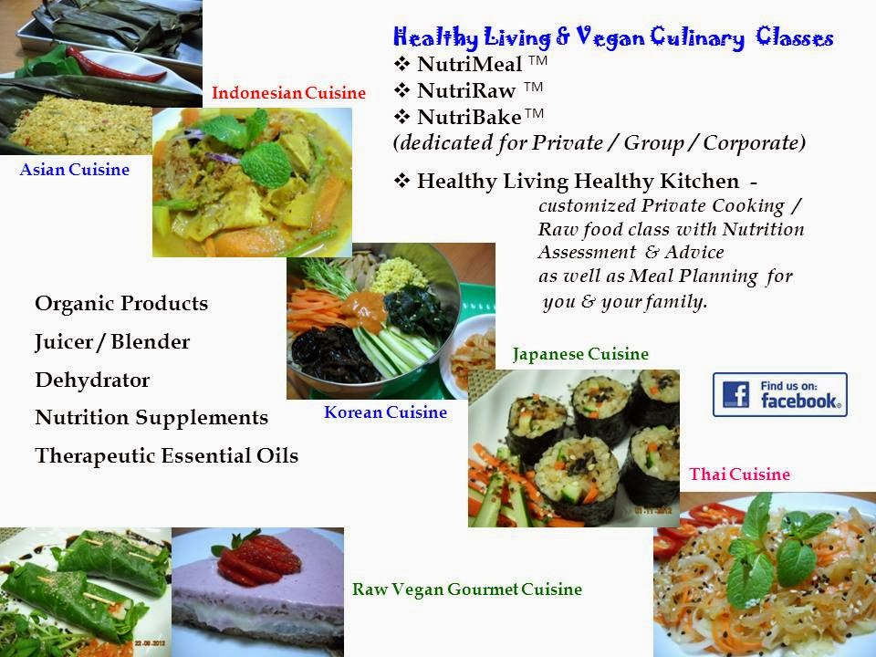 Vegan Culinary classes - for enquiry / booking, pls contact Vinitha @ 92368402