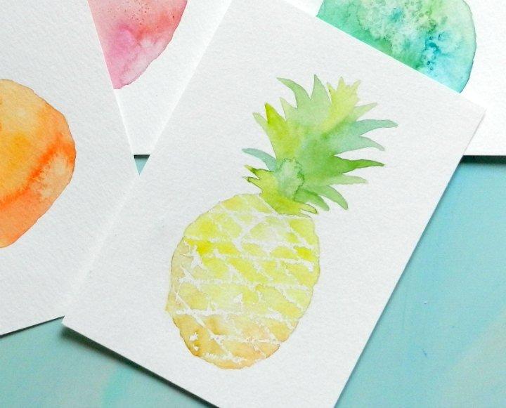 Watercolor Pineapple: Grow Creative