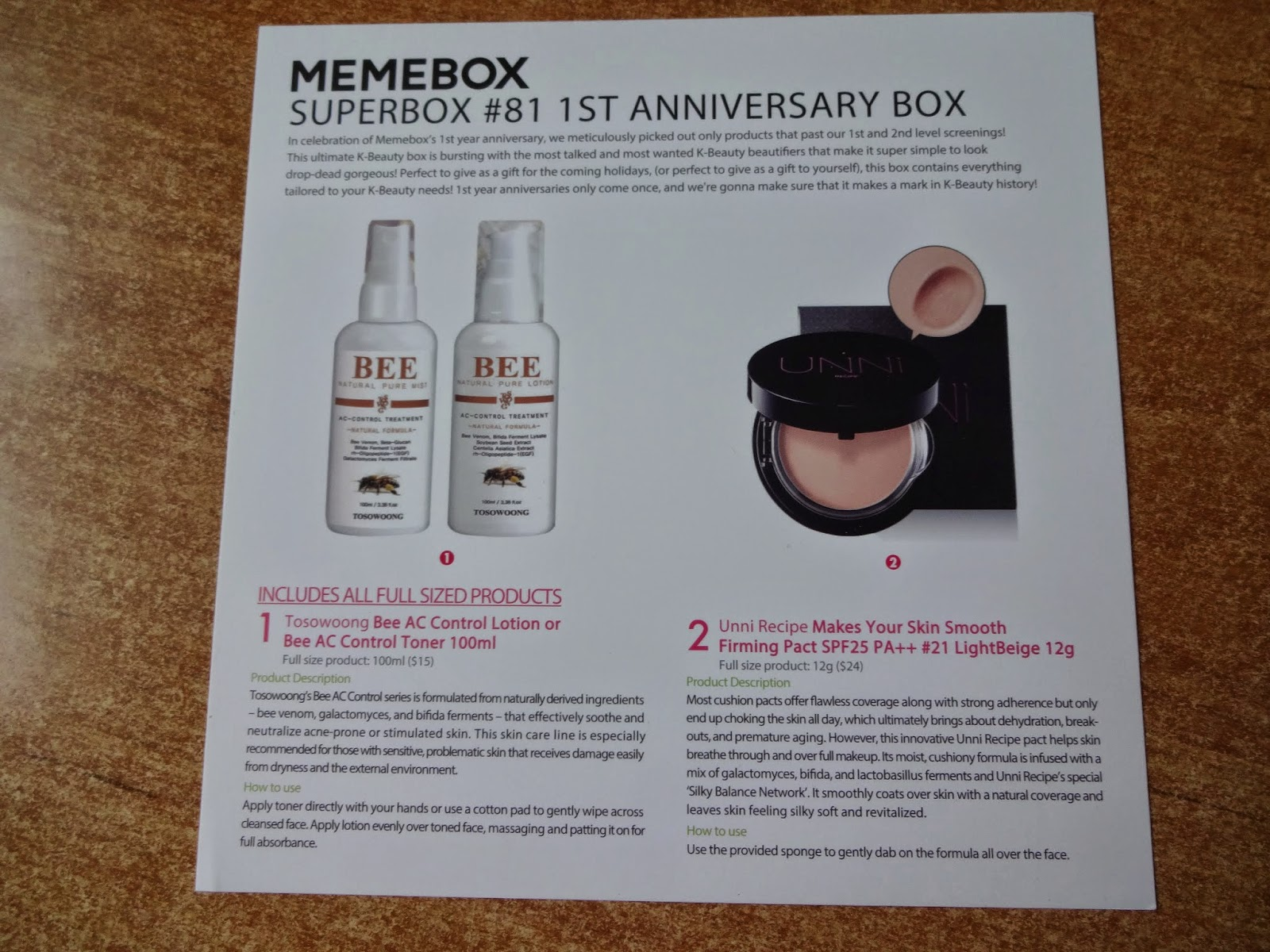 Phoenix princess memebox superbox st anniversary box