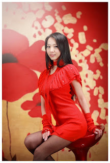 Seo You Jin Korean Sexy Model hot red mini robe 12