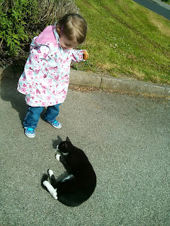 my eldest and the cat