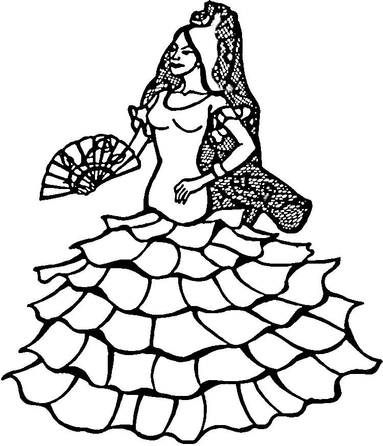 disegni da colorare  disegni da colorare  danza e ballo