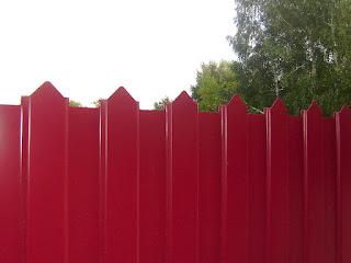 Забор из фигурного профлиста (резная кромка). Фото 2