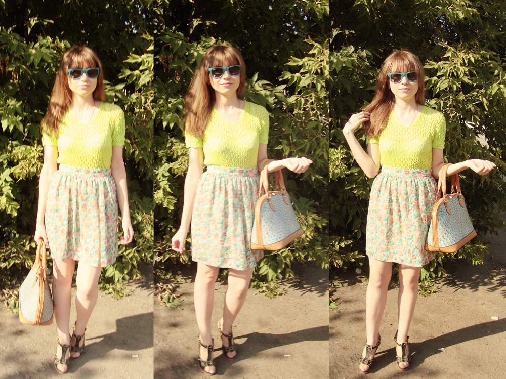 LIVE 2013, Outfit, Handmade, Top, Skirt, Bag, Shoes, Sunglasses, Ray-Ban, Nucelle