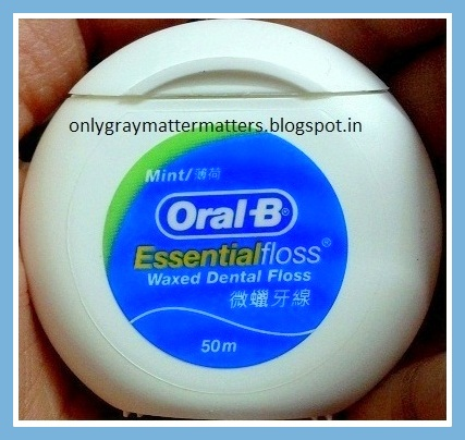 Oral B essential dental floss review mint flavor waxed