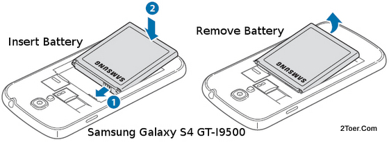 Samsung Galaxy S4 GT-I9500 Assemble Compartment Remove Battery