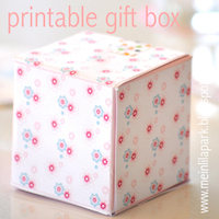 printable floral favor box