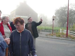 Albert Poulain, départ à l'aube lors des journées du patrimoine, à Saint-Just