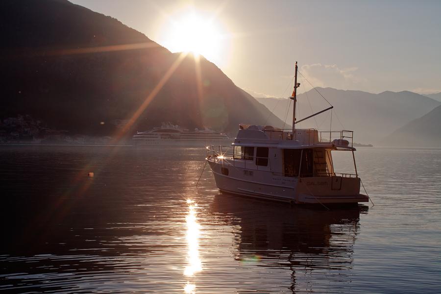 Kotor, Kotor bay,Montenegro, sunset, Perast
