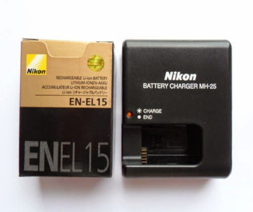 New Battery EN-EL15 & Charger MH-25 For Nikon D7000 D800 D800E V1 MB-D12 MB-D11