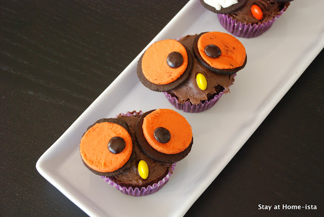 Perfect halloween treats, owl cupcakes