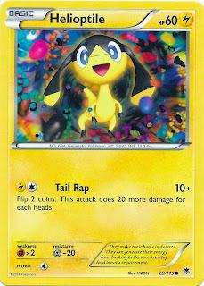 Helioptile Phantom Forces Pokemon Card