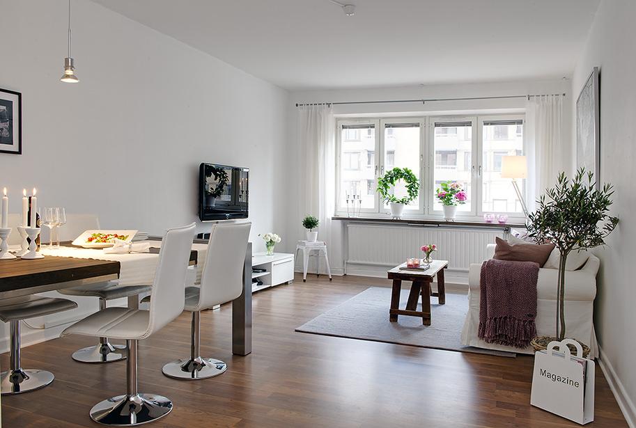 Achados de decoracao apartamento de sonho grande claro for Diseno de apartamento de 60m2