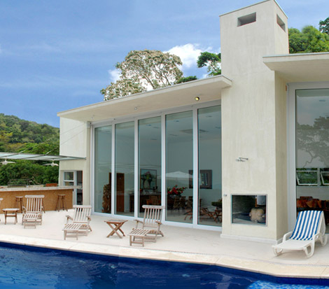 Aluminox fachada de vidro temperado for Fachada aluminio