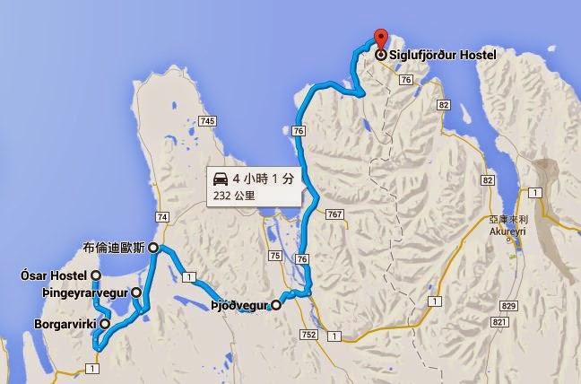 冰島自助旅行遊記照片-路線圖