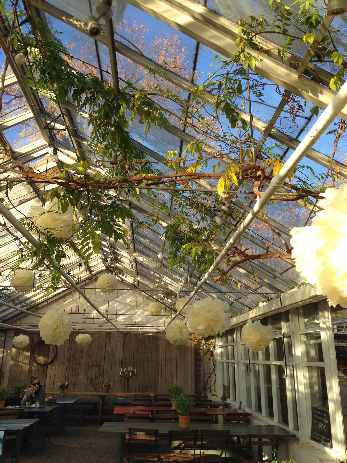 Wandering voyager: the greenhouse at rosendals trädgård in stockholm