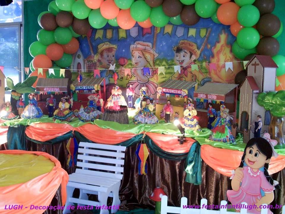 Tema Festa Junina para decoração de festa infantil