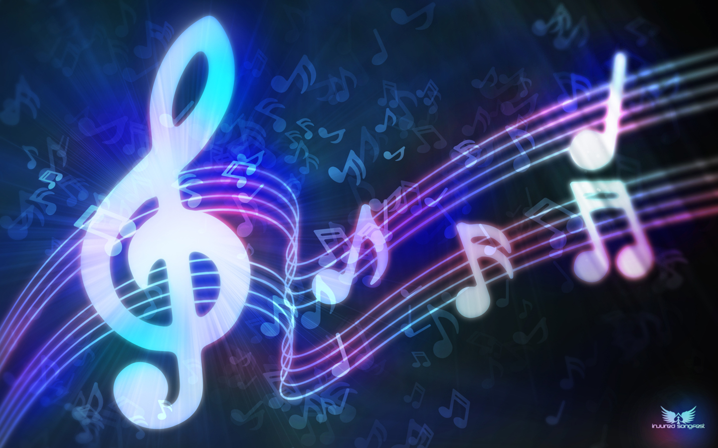 Cool Backgrounds Purple Music Notes
