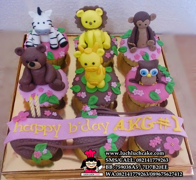 Cupcake Aneka Binatang Daerah Surabaya Sidoarjo