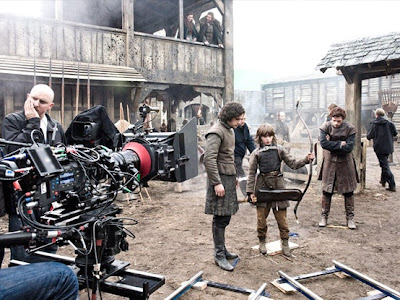 grabación de escena con Bran y Jon nieve - Juego de Tronos en los siete reinos