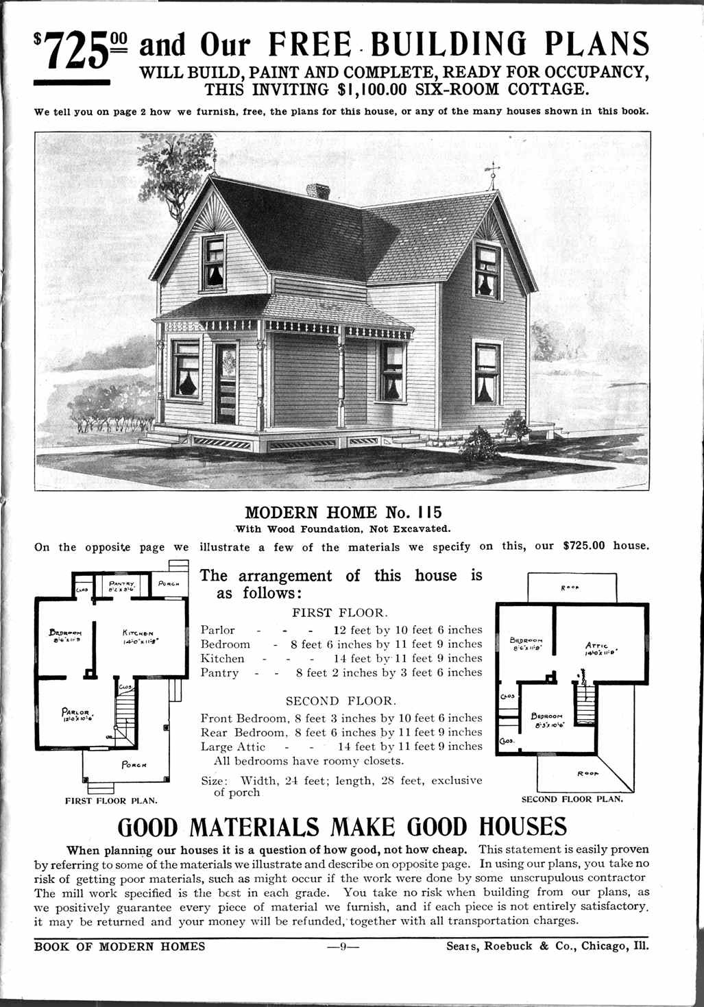 Noble pursuits circa 1920 floor plans for Catalog houses