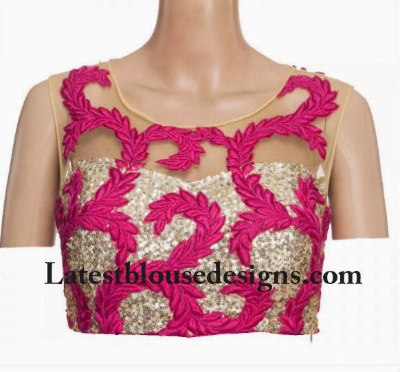 net insert blouse