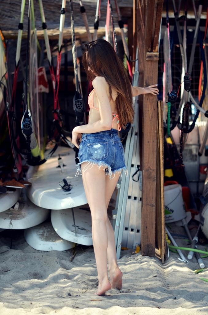 spodenki high waisted jeansowe