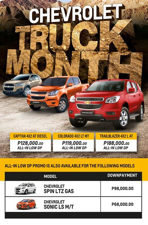 Gear Up And Avail Of Chevrolet Truck Months All In Low Downpayment