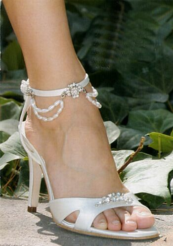 Elegant bridal style cute white wedding shoes for Heels for wedding dress