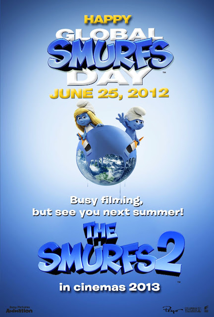 The Smurfs 2 Happy Global Smurfs Day Poster
